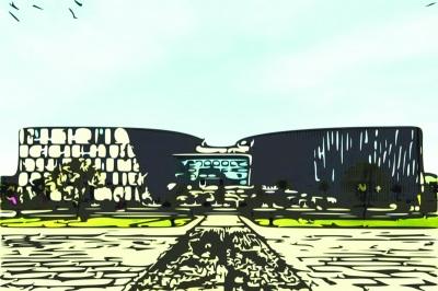 毕业生软件制作校园风光 酷似水墨风景画(图)