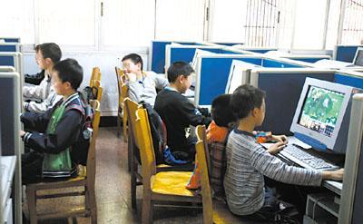 没身份证不能去网吧 小学生上图书馆打网游(图)图片