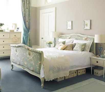 欧式卧室圆床地毯背景图
