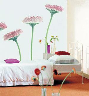 手绘墙花瓣