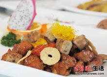 酒香鹅肝牛籽粒:牛籽粒肉质嫩滑爽口、鹅肝肉质香浓酥化,牛肉含有