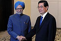 胡锦涛在海南会见印度总理辛格