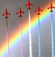 天空:战机特技飞行表演将为婚礼添彩