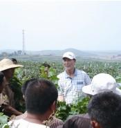 张裕葡萄种植专家现场培训