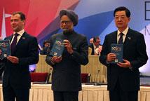 金砖五国领导人会晤后合影