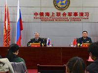中俄军演双方总导演接受采访