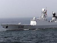 """""""徐州""""号护卫舰参加海上阅兵"""