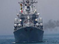 中俄海上联演进行实弹演练