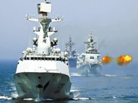 舰艇编队对海面目标射击
