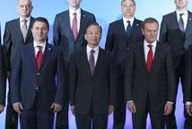 温家宝出席与中东欧国家领导人会晤
