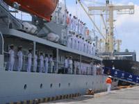 """中国海军""""郑和""""号训练舰访问越南"""