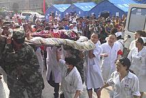 伤员被送往医院