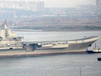 """中国航母""""辽宁舰""""入役后首航"""