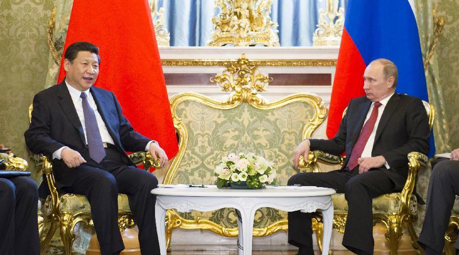 习近平与俄罗斯总统普京举行会谈