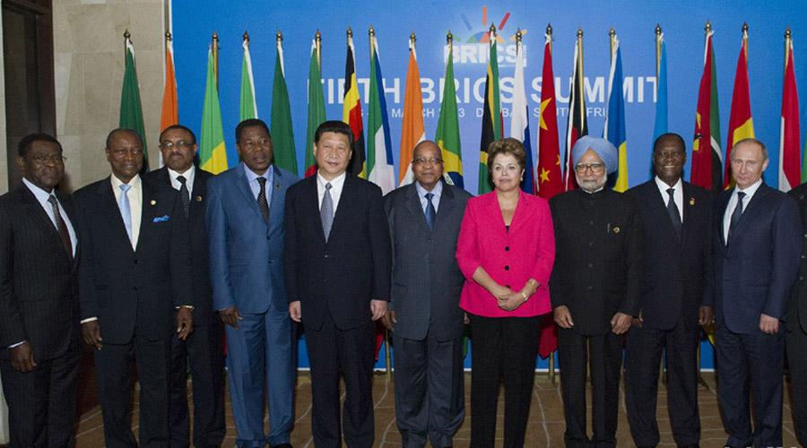 金砖国家领导人与非洲国家领导人对话会