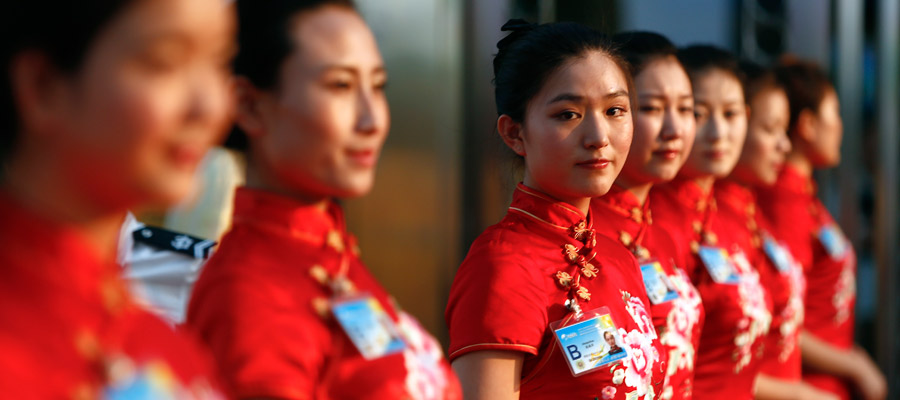 博鳌论坛上的美女礼仪