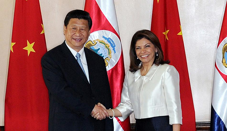 习近平同哥斯达黎加总统举行会谈