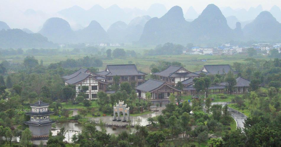 俯瞰广西桂林园博园