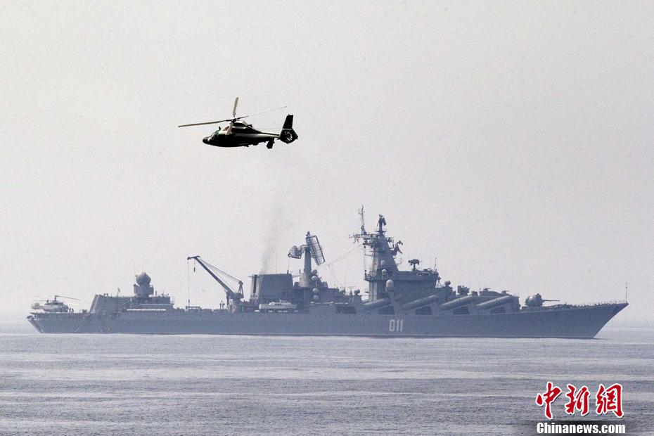 中俄军演进行联合防空等6科目演练