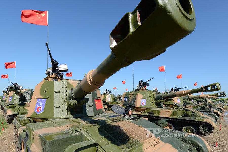 直击中俄军演:中方陆战重型装备群亮相