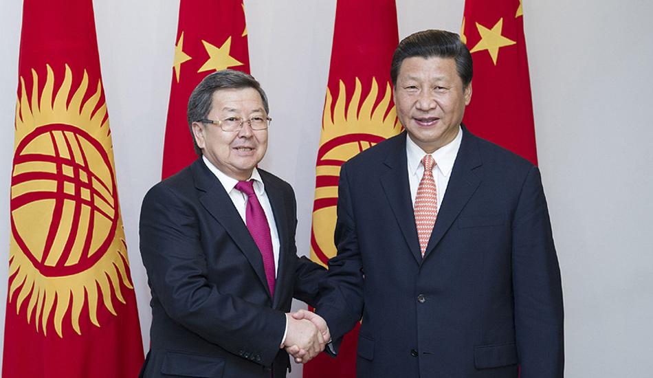 习近平会见吉尔吉斯斯坦总理萨特巴尔季耶夫