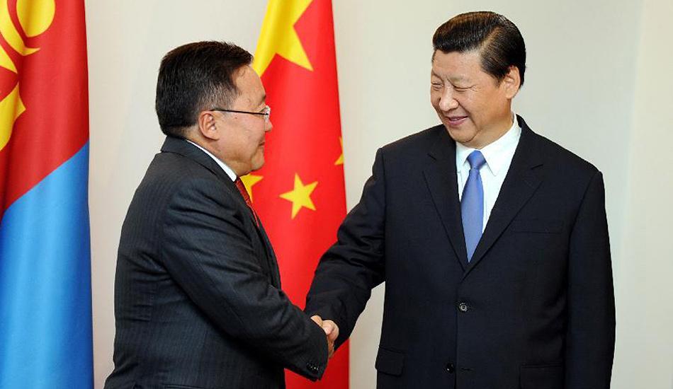 习近平会见蒙古国总统额勒贝格道尔吉