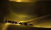 《大漠舟影》 摄影:王平