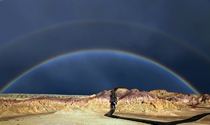 《五彩滩七彩虹》  摄影:马晓刚