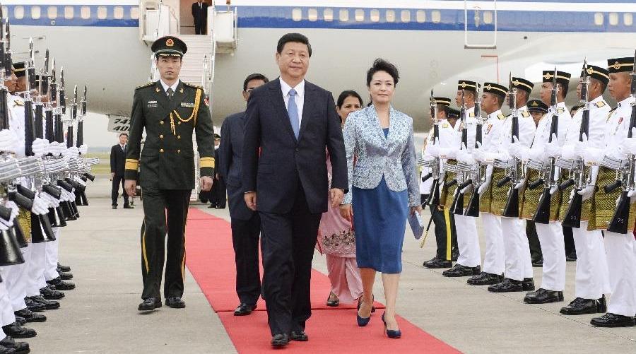 习近平抵达吉隆坡开始对马来西亚进行国事访问