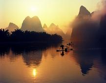 《漓江日出》 摄影:叶建平