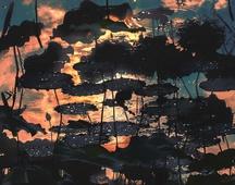 《荷塘夕照》 摄影 :李肃人