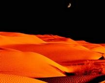 《沙漠夏夜》 摄影:甄永光