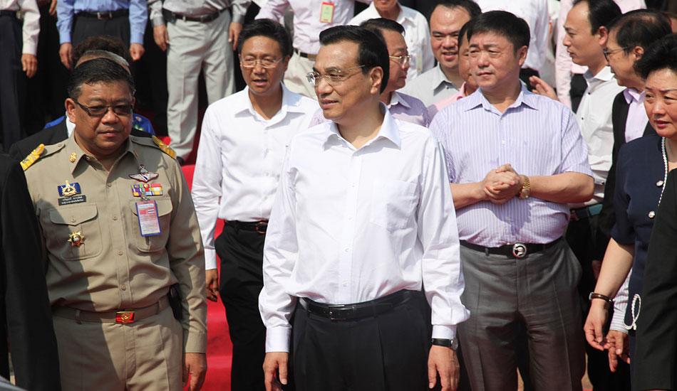 中国总理李克强参观泰国清迈华校