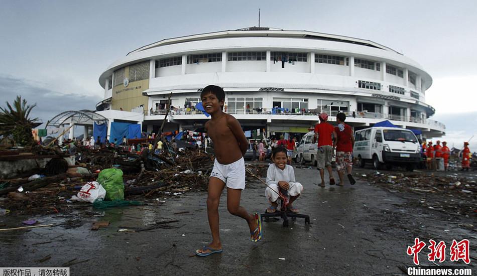苦中作乐的菲律宾灾民