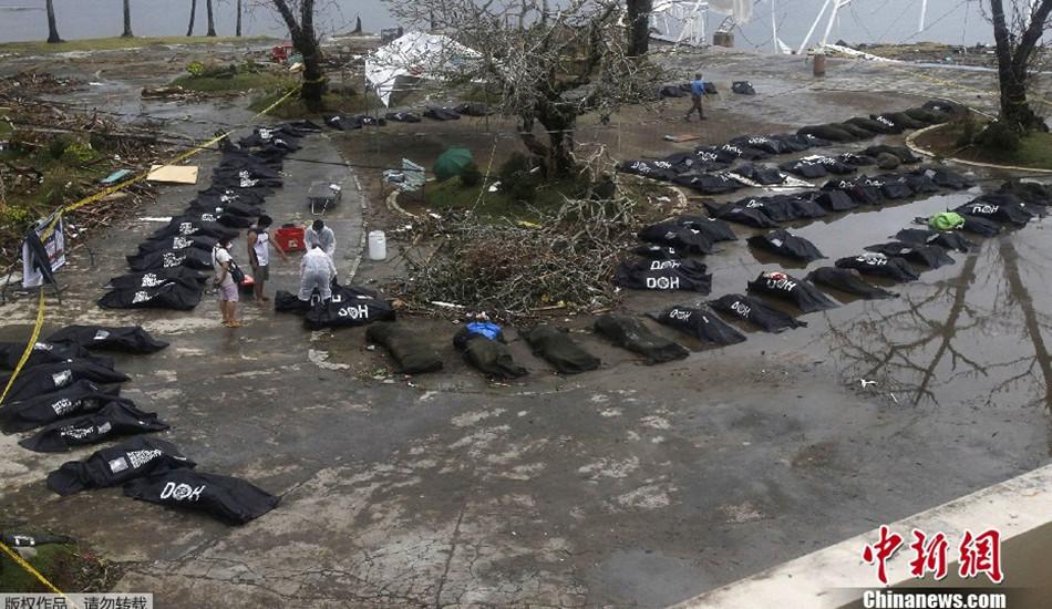 """台风""""海燕""""重创菲律宾灾区尸体遍布"""
