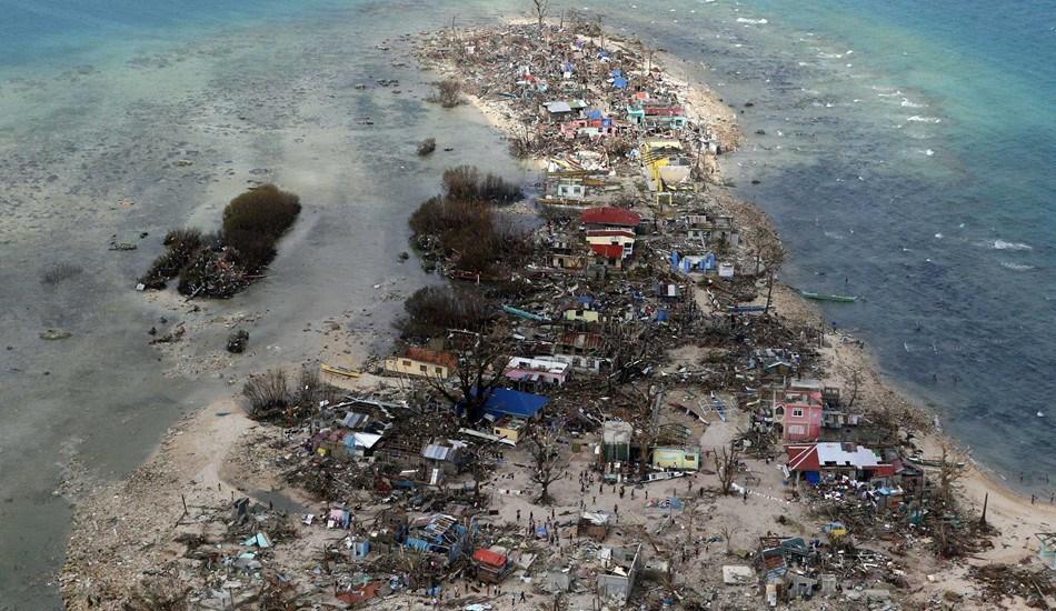 菲律宾受灾地区航拍图