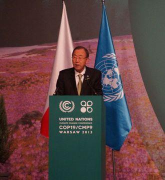 华沙气候大会高级别会议开幕 潘基文发表演讲