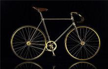 自行车全身镀24K金镶满水晶