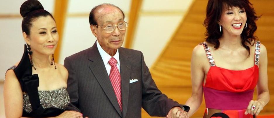 邵逸夫出席香港无线电视四十周年台庆亮灯仪式
