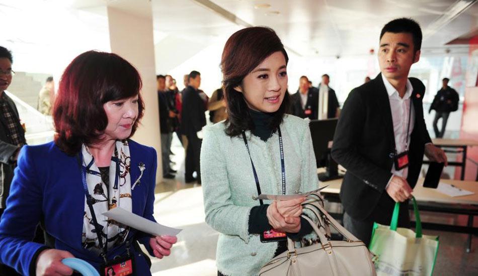 主持人许戈辉出席深圳市政协五届六次会议