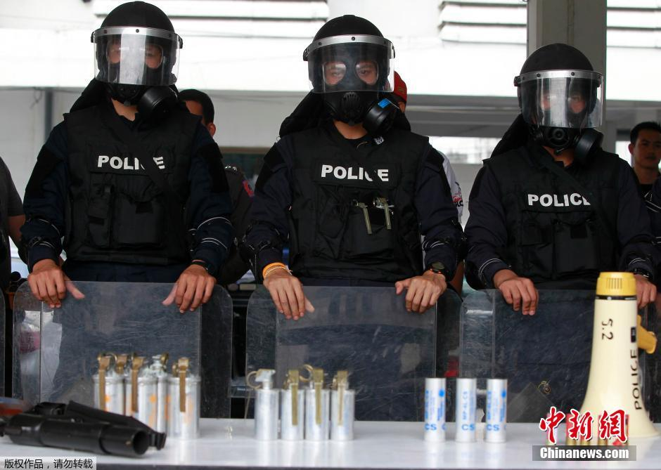 """泰国计划在""""封锁曼谷""""行动首日部署2万警察"""