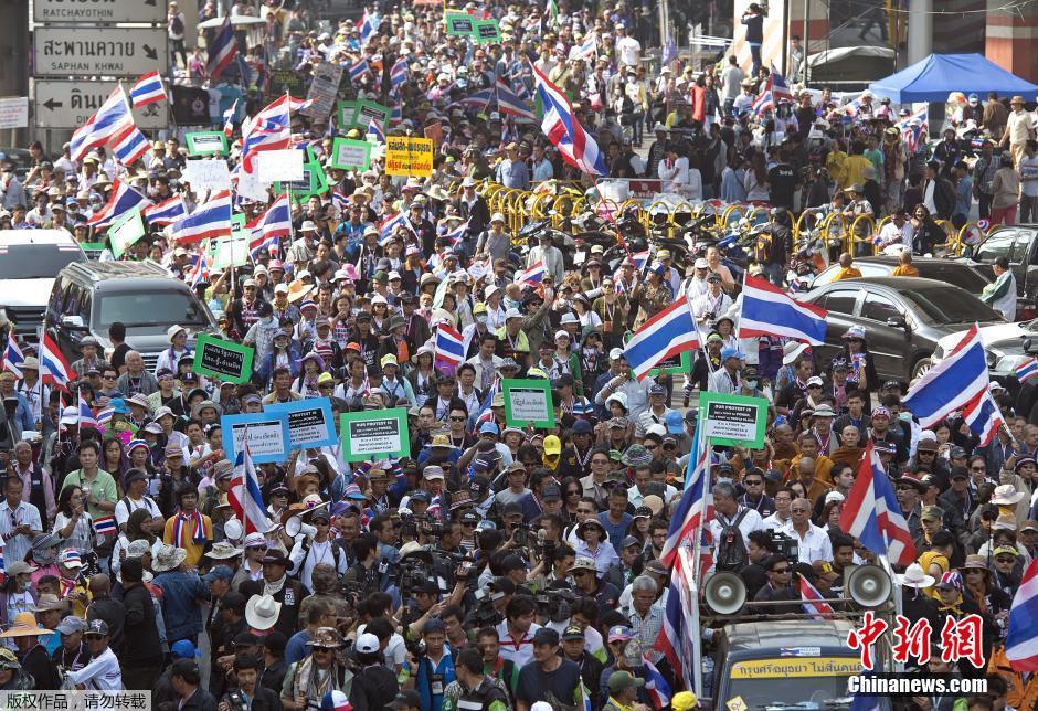 泰国反政府集会现场发生爆炸 数十人受伤