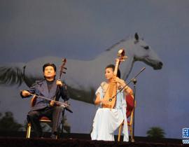 陈军、刘珂表演二胡琵琶合奏《赛马》