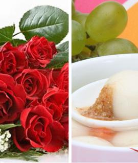 网友:洋玫瑰和土汤圆难取舍