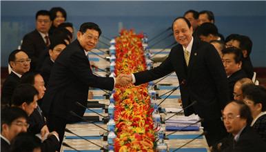 两岸两会领导人第十次会谈在台北登场