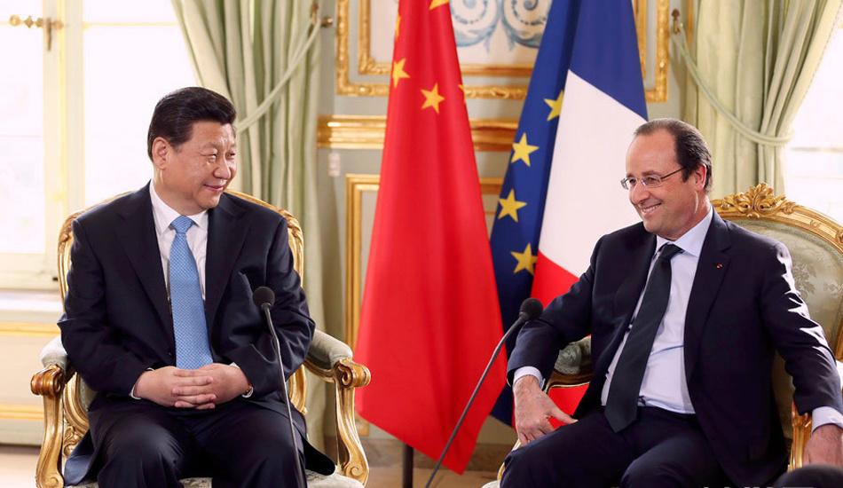 习近平同法国总统奥朗德举行会谈
