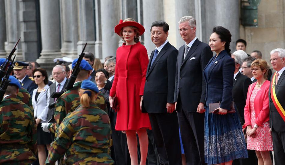 比利时国王菲利普为习近平举行欢送仪式