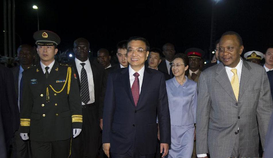 李克强抵达内罗毕对肯尼亚进行正式访问