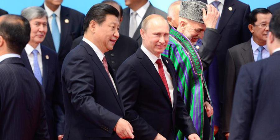 习近平同亚信峰会与会领导人合影