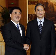会见台北市长郝龙斌